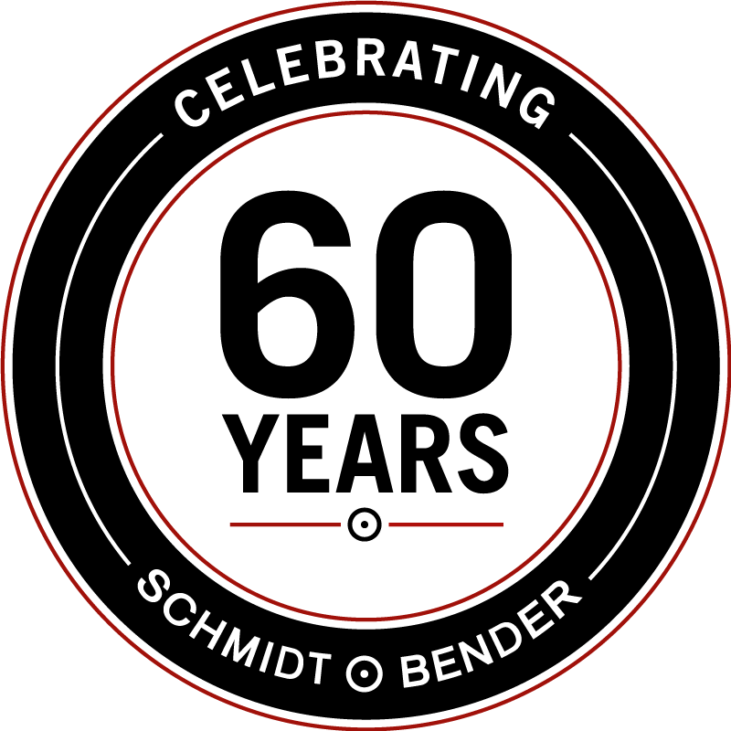 Celebrating 60 Years Schmidt & Bender Logo