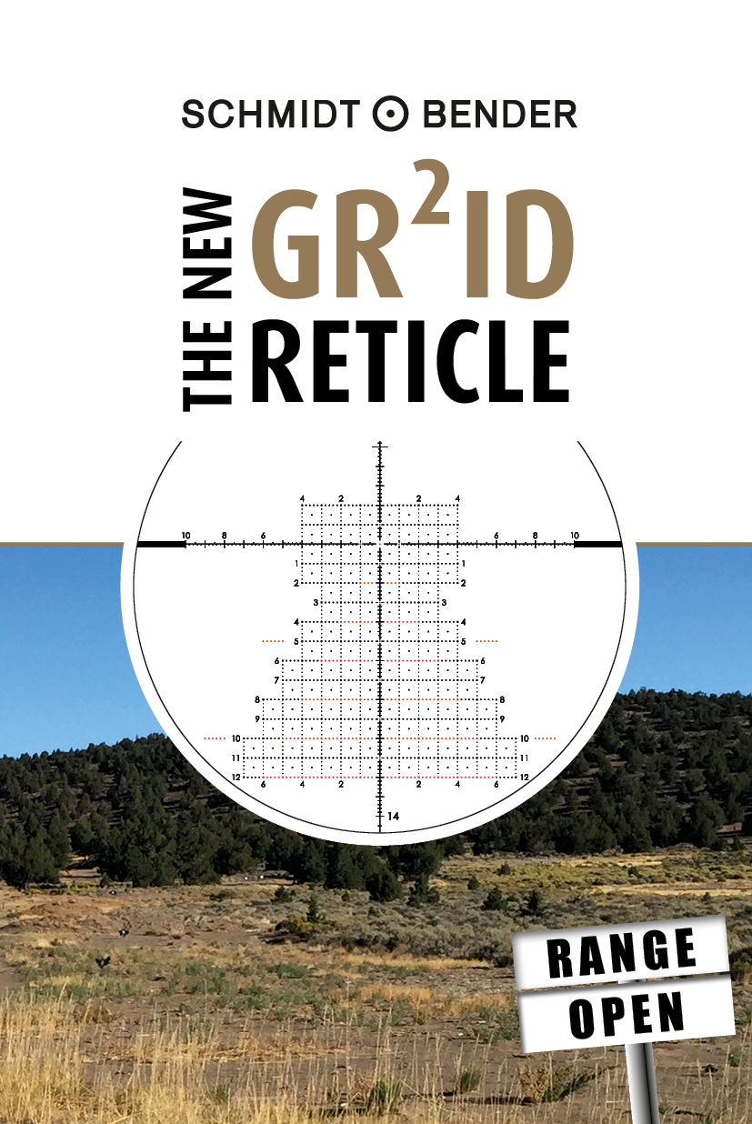 GR²ID reticle with shooting range