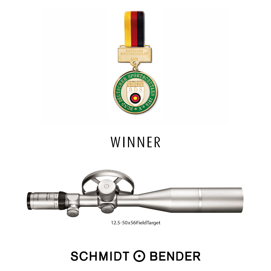 Ad winner type: Medal Federation of German Shooters and 12.5-50x56 Field Target